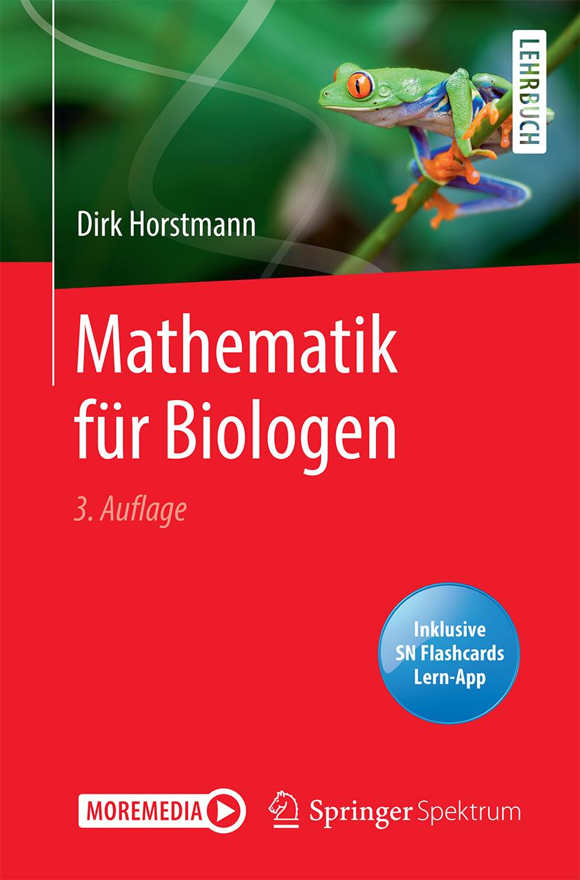 Mathematik für Biologen_Cover_3. Auflage